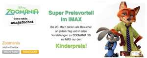 Zoomania 3D in IMAX Sony Center Berlin für Kinderpreis