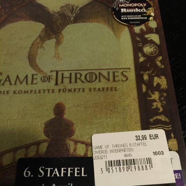 Game of Thrones die 5. Staffel auf Blu-ray