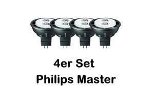 [3% Qipu] 4x Philips Master LED Spot 4W MR 16 4000K 12V EEK A+ für 19,99€ frei Haus @Dealclub