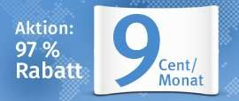 Top Level Domains für 9ct/Monat