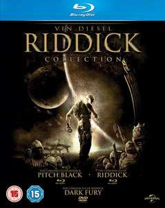 [Zavvi] Riddick Collection: Pitch Black + Riddick: Krieger der Finsternis + Riddick: Chroniken eines Kriegers (2x Bluray + 1x DVD, dt. Tonspur) für 10,18€