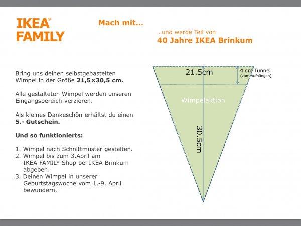 (IKEA Brinkum/Bielefeld)Wimpel basteln und 5€ Gutschein erhalten
