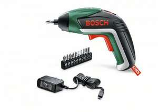 (AMAZON) Bosch Home and Garden Akku-Schrauber IXO 5. Generation, 10 Schrauberbits, USB-Ladegerät, Metalldose (3,6 V, 1,5 Ah, 215 min-1 Leerlaufdrehzahl)
