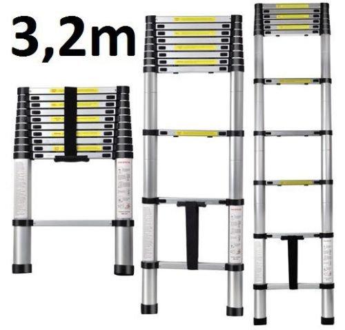 (Ebay) Teleskopleiter Leiter Alu Leiter Stehleiter Anlegeleiter Mehrzweckleiter 3,20m  regulärer VK = 59,90€  Angebot 53,91€  MINUS 10% Rabatt auf Heimwerke = 48,50€