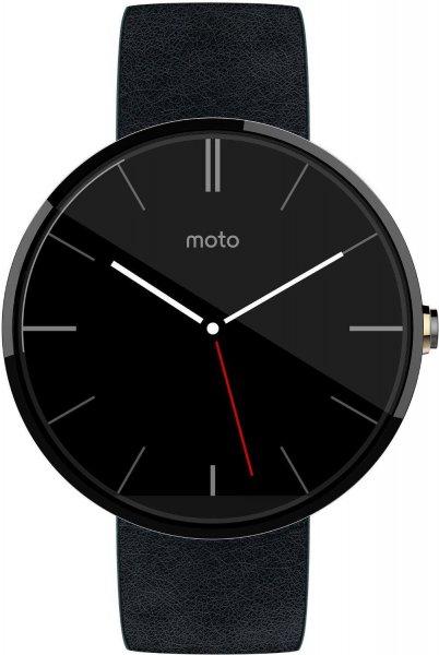 [amazon.co.uk] Motorola Moto 360 Lederarmband schwarz Edelstahl 1.Gen