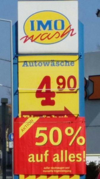 Lokal Nürnberg Sigmundstr. IMO WASH 50% auf alle Autowäschen