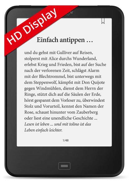 [Hugendubel] E-Reader Tolino Vision HD 3 mit knapp 15% Rabatt