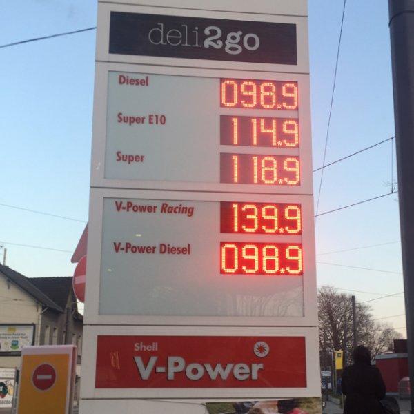 [lokal Witten] Shell V-Power Diesel für 0,989