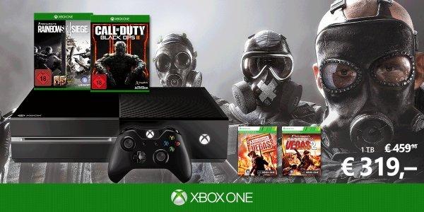 Xbox One 1 TB Rainbow Six Siege + Vegas 1 & 2 Bundle plus Call of Duty Black Ops 3