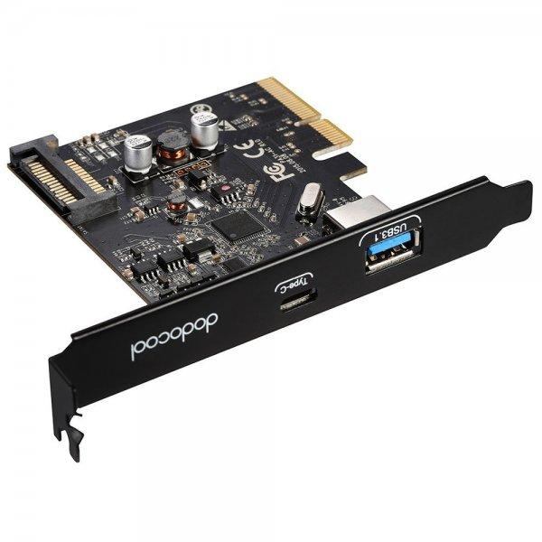@Amazon dodocool PCI-E Express Karte mit USB 3.1 und USB Typ C Anschluss