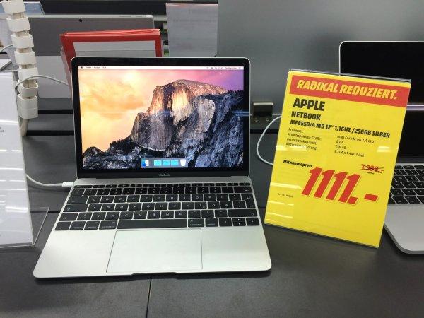 "MacBook 12"" Retina 8GB RAM 256GB SSD [lokal - Media Markt Schwerin]"