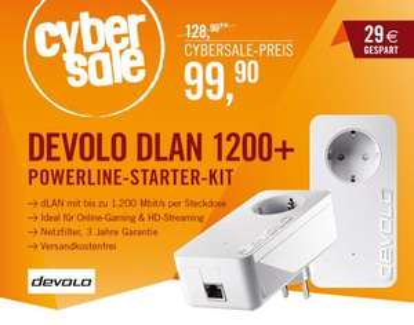 [ cyberport ] Cybersale: Devolo dLAN 1200+ Starter Kit für 99,90 €