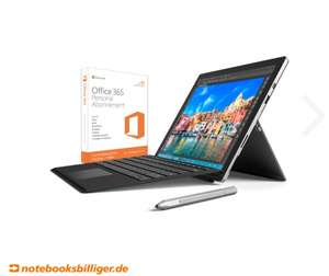 Microsoft Surface Pro 4 - 128GB - i5 Bundle inkl. Type Cover in schwarz, Surface Pen & Office 365