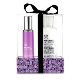 [The Body Shop] 50% Rabatt auf das 2. Gesichts-  oder Make-Up Produkt + gratis Versand, z.B. Oster Geschenkset aus Duft und Body Lotion für 9€