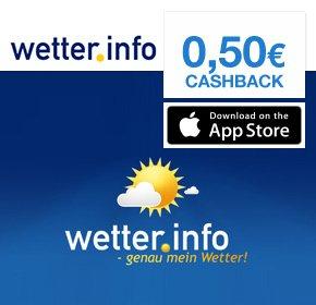 50 Cent geschenkt von qipu für wetter.info iPhone App