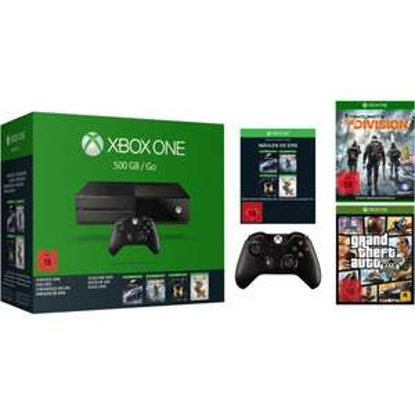 [EBAY] Xbox One 500 GB + 2. Controller + GTA V + The Division + Spiel aus Auswahl 349€