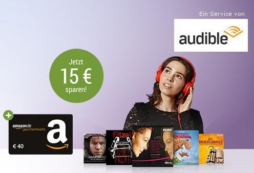 GMX Premium Kunden - 3 Monate Audible + 40€ Amazon Gutschein für 14,85€