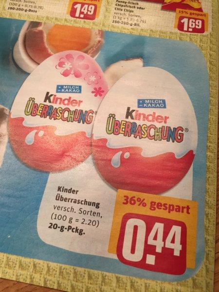 [lokal/offline] Hamburg – REWE: Kinder Überraschung Eier für 44 Cent