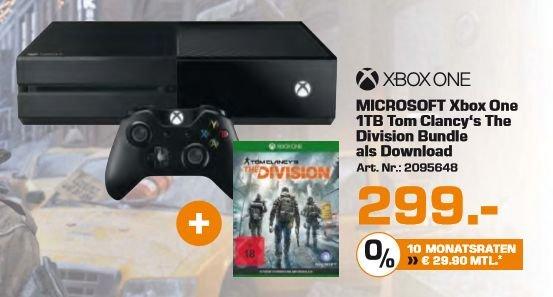 [Saturn ] Microsoft Xbox One 1TB + Tom Clancy's The Division für 294,-€**Update** Ab sofort Online und Versandkostenfrei