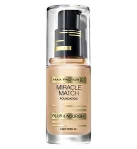 (Rossmann)Max Factor Miracle Match Foundation für 5,90€ statt 12,95€