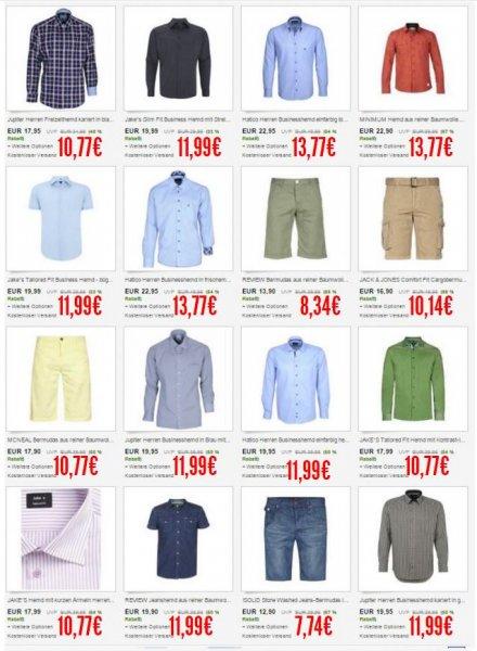 """Herrenbekleidung 400+ Modelle (Business Hemden, Bermudas, Shirts, Pullis etc solider Marken ) für durchschn. ~10€ pro Teil bei 3 Stück @ Ebay Coupon """"CMARKEN16"""""""