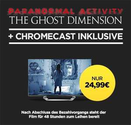 Google Chromecast 2 für 24,99€ (statt 37€) + Leih-Film Paranormal Activity GRATIS
