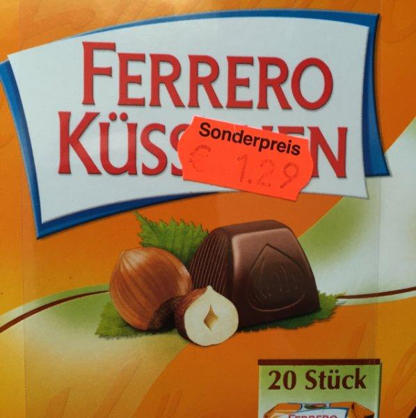 Ferrero Küssschen mit MHD bis 27.03.2016 für 1,29Euro