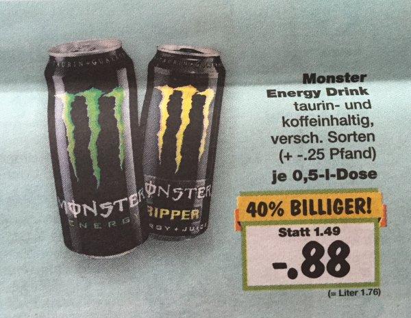 [Kaufland & Lidl Bundesweit] Monster Energy Drink für 0,88€ ab 21.03.16
