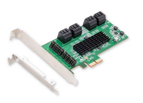 Amazon: Syba PCI-Express (PCIe) 2.0 Controller- Schnittstellenkarte für SATA III (8 Port)