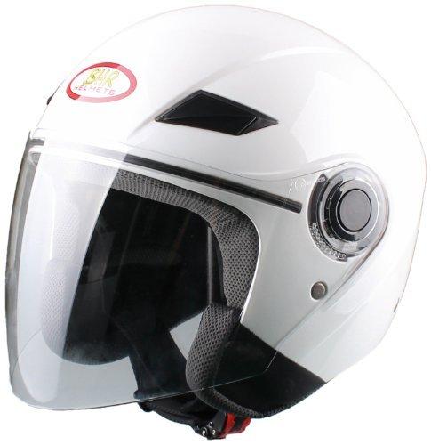 (Amazon) Demi-Jet Helm Gr. M, weiß, Typ: BHR 49849 für 13,11€
