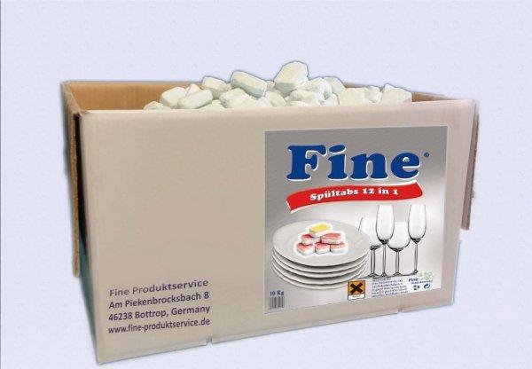 10kg Spülmaschinentabs Geschirrspültabs Tabs 12in1 / 5in1 A-B-WARE (ca. 500 Stück),  keine Bruchware, in Folie (12in1: 17,89€,  5in1:15,89€)