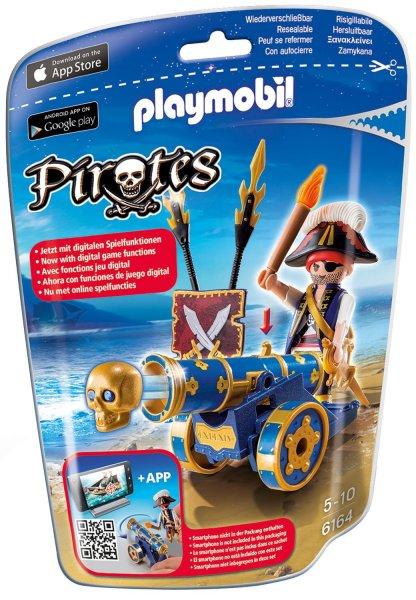 [Müller] Playmobil App-Kanone (normales Spielzeug + Schiffe versenken mit Smartphone und Playmobilkanone) mit Pirat für 5€
