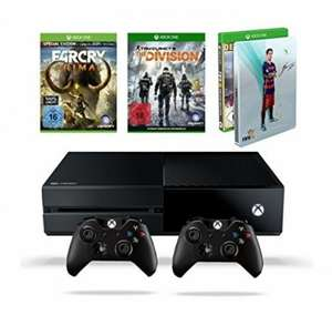 "[Amazon Tagesdeal] Xbox One ""Mega Bundle"",Xbox+2.Contr.+Fifa16 St.b.+Far Cry Primal Spec.Ed.+The Division für 369,97€"