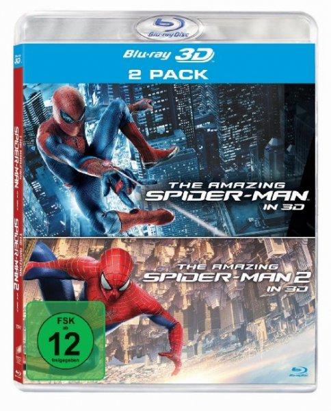 The Amazing Spider-Man / The Amazing Spider-Man 2: Rise of Electro (3D + 2D Version) [3D Blu-ray] für  9,99 € @ amazon.de > Prime
