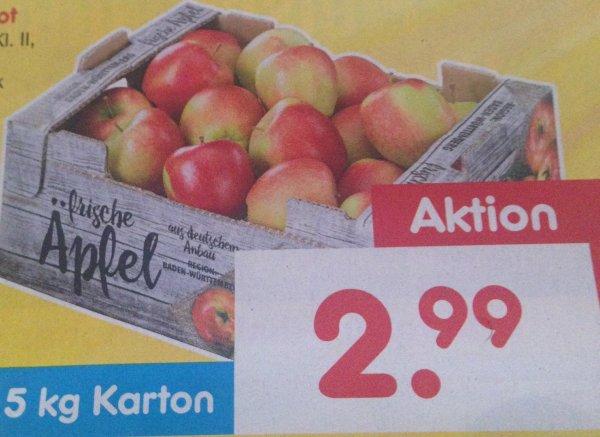 Netto ohne Hund und penny  5kg Tafeläpfel rot Deutschland kl2 am 26.3.16 für 2,99€