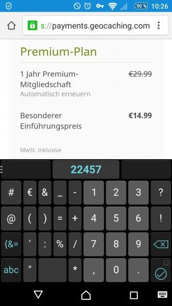 geocaching Premium für 14.99 statt 29.99€