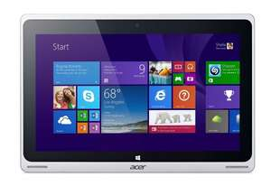 Acer Aspire Switch 10 Pro (SW5-012P) 25,6 cm (10,1 Zoll) Convertible Notebook (Intel Atom Z3735F Quad Core, 1,3GHz, 2GB RAM, 32GB SSD, Windows 8) silber  (PVG: ca. 352€)