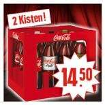 EDEKA  + Netto MD bundesweit Coca-Cola verschiedene Sorten  2 Kisten a 12 x 1,0 l nur 14,50€