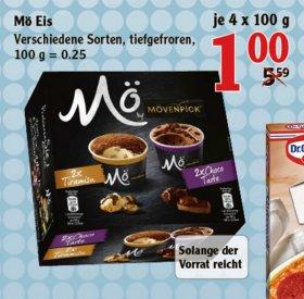 [GLOBUS MAINTAL] Mövenpick Mö Eis verschiedene Sorten 4x100g für 1,00€ statt 5,99€
