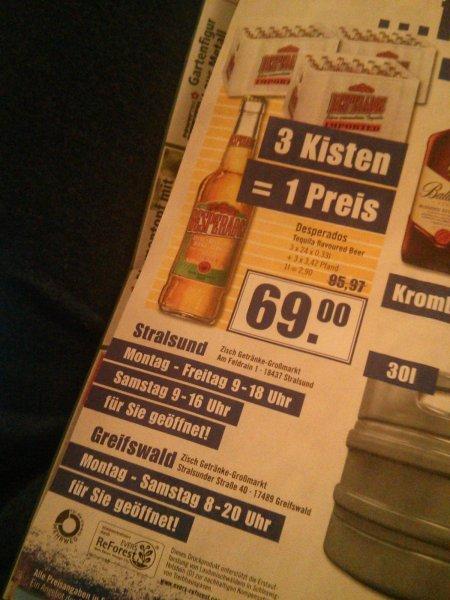 3 Kisten Desperados zum einen Preis @Zisch Greifswald & Stralsund