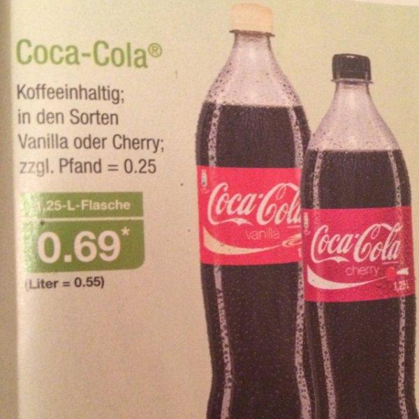 Coca-Cola Cherry & Vanilla - Liter = 0,55ct (Aldi Nord)