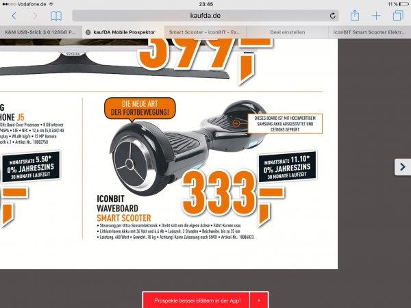 [Berlet] iconBIT Smart Scooter für 333€
