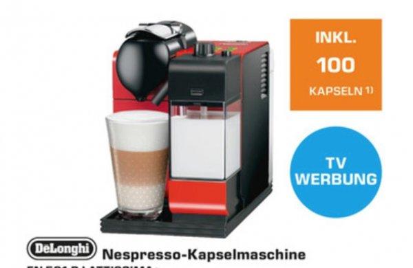 (Saturn) Nespresso Latissima+  (rot) für  € 169 + 100 Kapseln