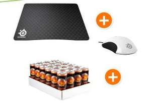 [@NBB] STEELSERIES Kinzu V3 Gaming Maus, 9HD Mauspad +24er Tray Raubtierbrause (Energy Drink)