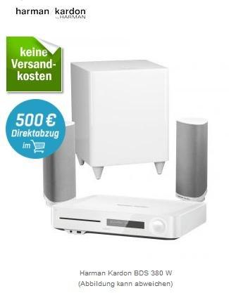 (redcoon.de) Harman Kardon BDS 380 W (2.1-Blu-ray-Heimkinosystem, weiß) (150€ unter Idealo) // Harman Kardon BDS 480 in schwarz (324€ unter Idealo)