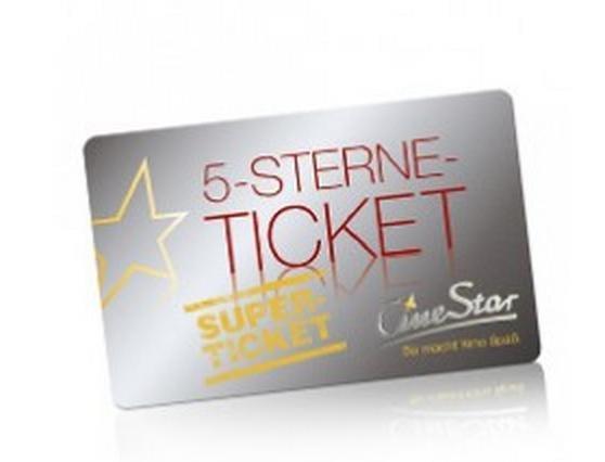 5-Sterne-Superticket für CineStarCARD-Mitglieder (offline, mehrere Standorte)