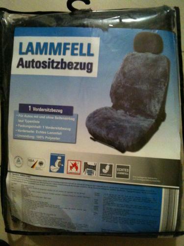 LAMMFELL Autositzbezug, universal von 34,99€ auf 10€ (ALDI; PLZ: 33378) (BUNDESWEIT???)