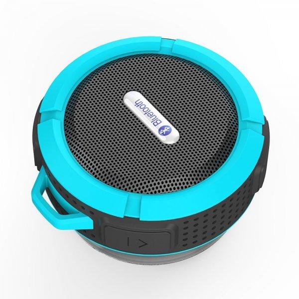 @Amazon: 5W IPX5 Wasserdicht Staubdicht Stoßfest Bluetooth ISSC V3.0 A2DP Wireless Sport Stereo Freisprechen Lautsprecher mit Saugnapf Mic von Patuoxun ab 13,99€ mit Prime
