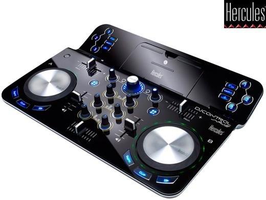 (iBood.de) Hercules DJ Control Wave Turntable mit Bluetooth und Akku für iPad (42,5% unter Idealo)