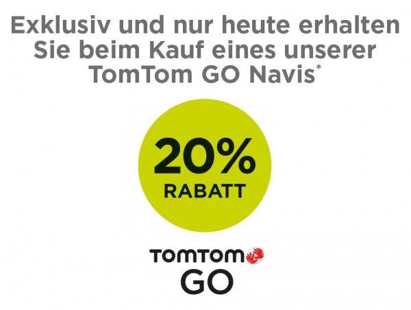 [Lokal Stuttgart] 20% Rabatt auf alle TomTom Go-Geräte + 15€ Gutschein